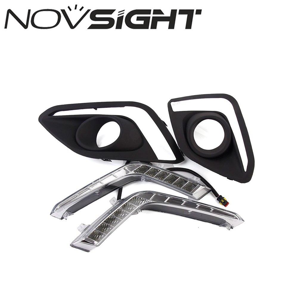 NOVSIGHT 2pcs/set High Quality Auto Car LED DRL Driving Daytime Running Lights White For Suzuki Swift 2014-2016 Free Shipping
