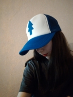 Women Men Curved Bill BLUE PINE TREE Dipper Gravity Falls Cartoon Mesh Hat Cap Trucker Baseball