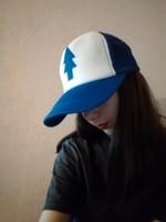 Women Men Curved Bill BLUE PINE TREE Dipper Gravity Falls Cartoon Mesh Hat Cap Trucker Baseball
