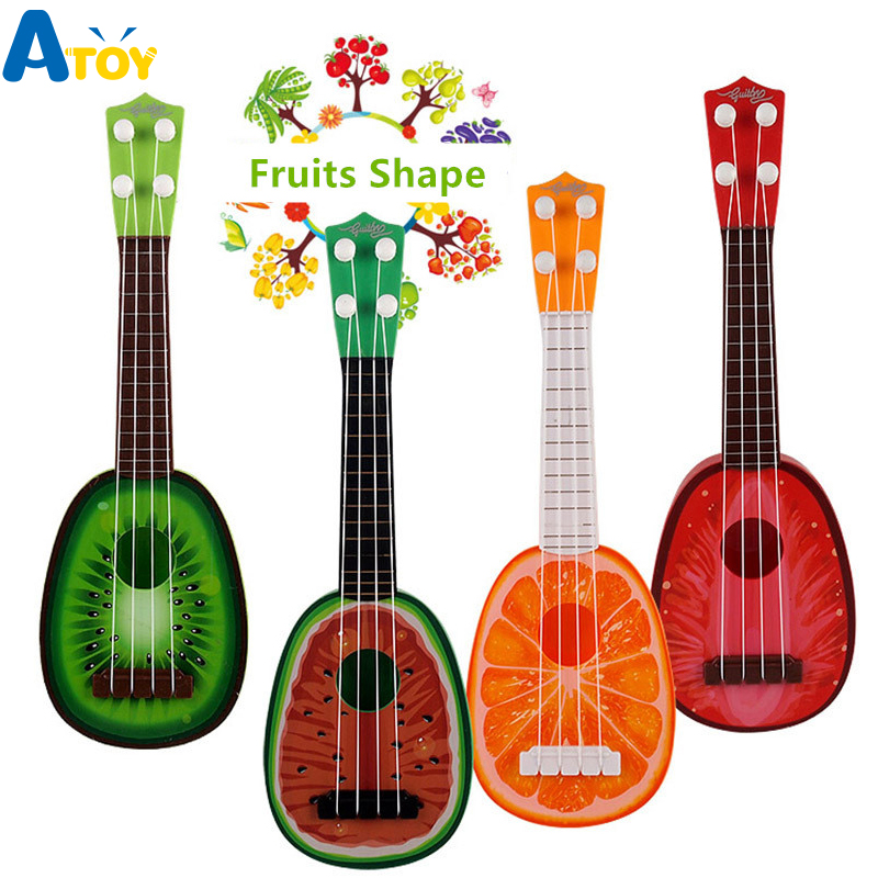 Children's Simulation Mini Ukulele Hand Guitar Children Educational Toys Musical Instrument Studio Toys Gift for Boy Girl Child