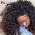 250% Densidade Kinky Curly Parte Dianteira Do Laço Perucas de Cabelo Humano Para Preto mulheres Curly Brasileiro Full Lace Perucas de Cabelo Humano Com Cabelo Do Bebê