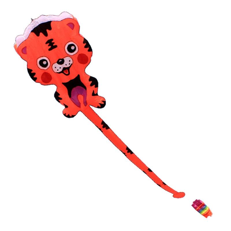Free Shipping Outdoor Fun Sports NEW Nylon Cloth Power Carton Tiger Software Kite Good Flying все цены