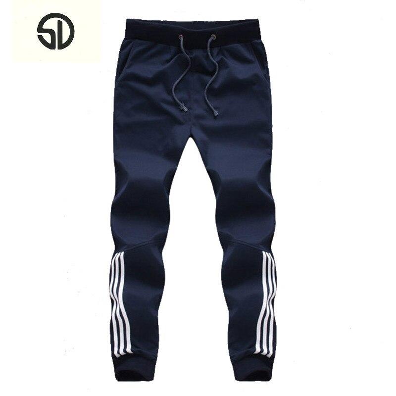 2018 nueva moda pantalones de chándal para hombre Pantalones casuales de algodón pantalones de chándal para hombre Pantalones rayados Gyms ropa talla grande 5XL