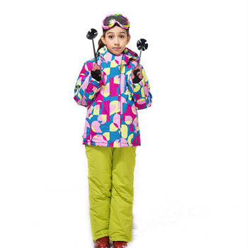 2018 Winter Children Ski Suit Windproof Warm Girls Clothing Set Jacket + Overalls Girl Clothes Set 3-14 Years Kids Snow Suits
