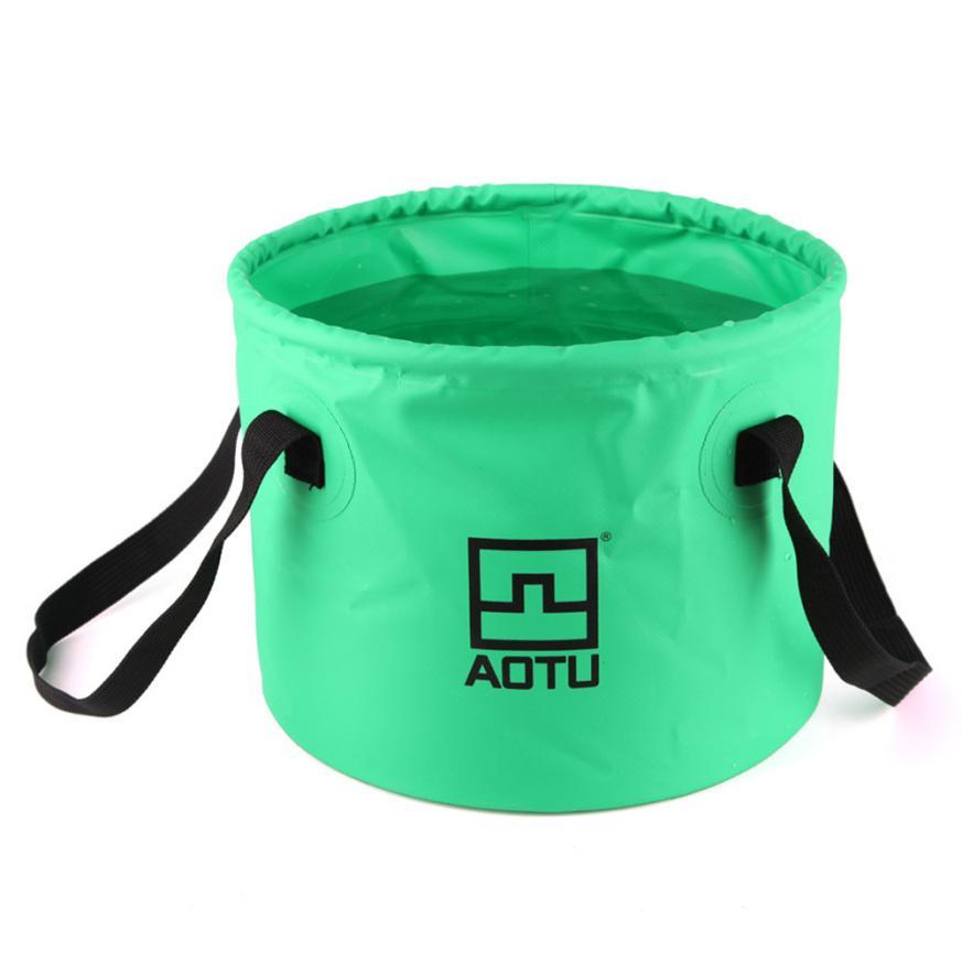Aotu Collapsible Bucket Multifunctional Folding Bucket For Camping Hiking Folding Bucket For Camping Hiking Live Fishing Water