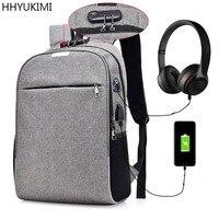 HHYUKIMI Men S Anti Theft Password Lock Backpack Multi Functional Laptop Bag College School Bag Business
