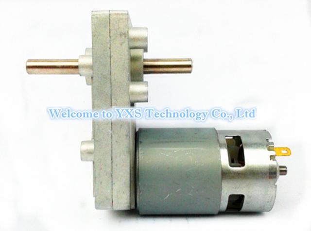 775 duplo eixo do motor de alto torque de saída diferentes velocidade DC6V 12 V 24 V motor da engrenagem 1.2 rpm ~ 220 rpm CW CCW 20KGF. CM ~ 100kgf. cm