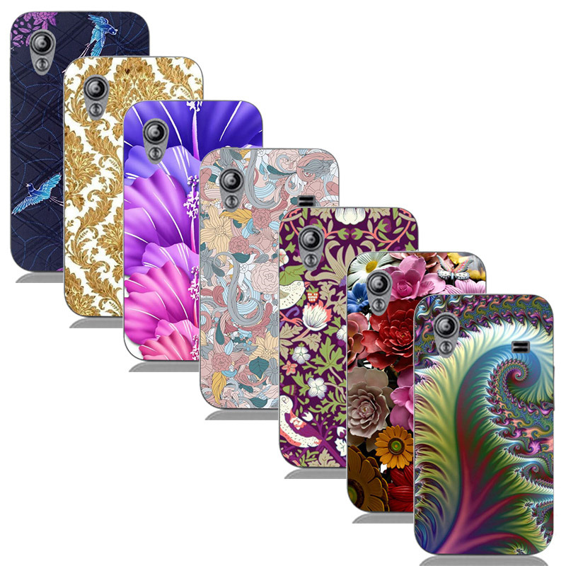 For Samsung Galaxy Ace S5830i GT S5830 GT-S5830i Printed Case Luxury Hard Plastic Drawing Phone Shell Flower Back Cover