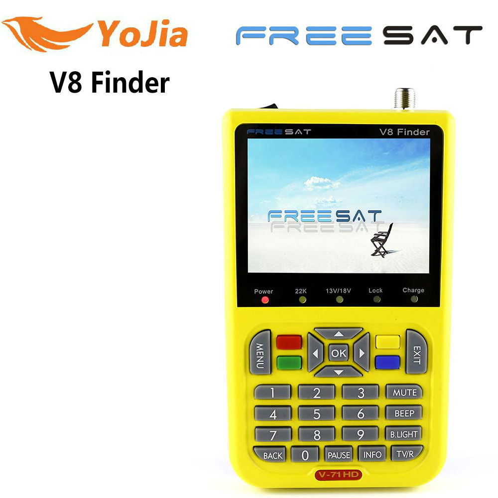 цены Original Freesat V8 Finder DVB-S2 Satellite Finder High Definition MPEG-4 V8 Satellite Meter Finder