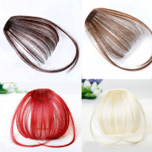Fake Bangs Clip Hairpiece Black Brown Blonde Synthetic Hair Extensions For Women DIFEI