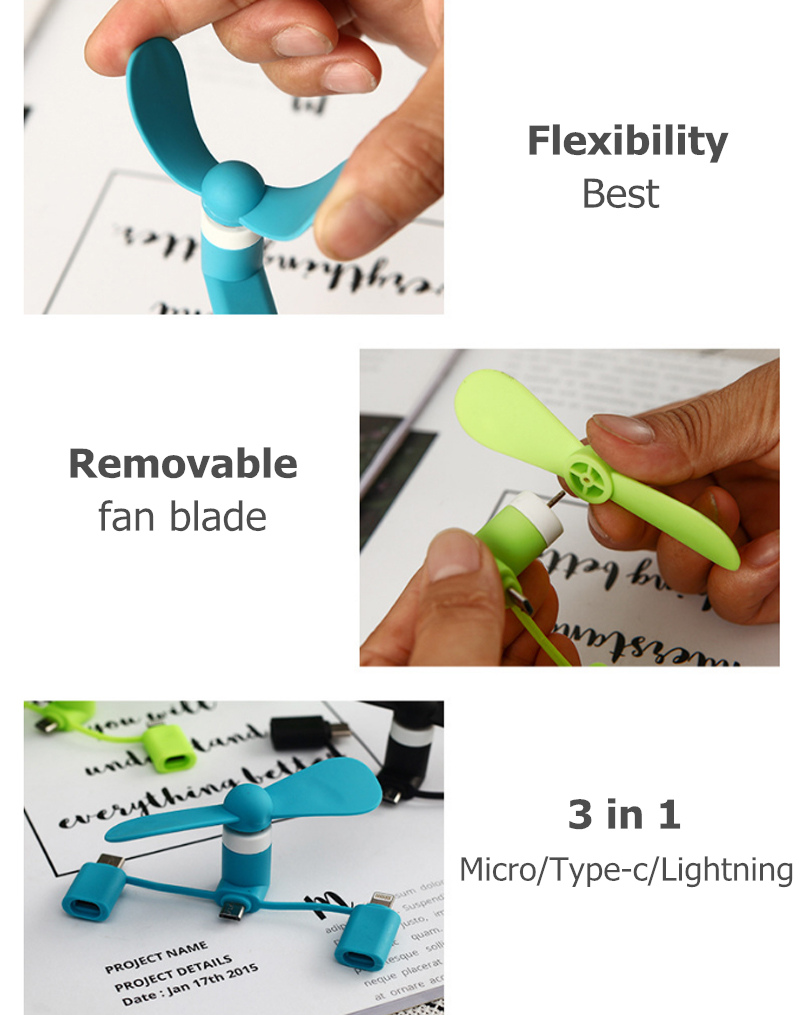 HTB1TEPbO9zqK1RjSZFHq6z3CpXa3 BinFul Wholesale Portable Travel Mini USB+Micro Type c USB Fan Gadget for Android smart Phone for iPhone X 8 7 plus 6s 6 Plus 5s