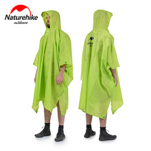 Naturehike Single Person Poncho Raincoat Backpack Cover Outdoor Awning Camping Mini Tarp Sun Shelter 20D Silicone 210T Taffeta