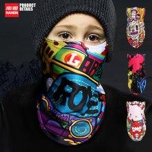 NANDN Niños Al Aire Libre de Esquí Snowboard Deporte de Invierno Más Cálido Mascarilla facial Piratas 3D Impreso Triangular Bufanda Esquí Máscara