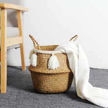Nordic Linen Storage Baskets Foldable Organizer Baby Kids Child Clothes Toys Candy Gadgets Holder bag Case Belly Basket