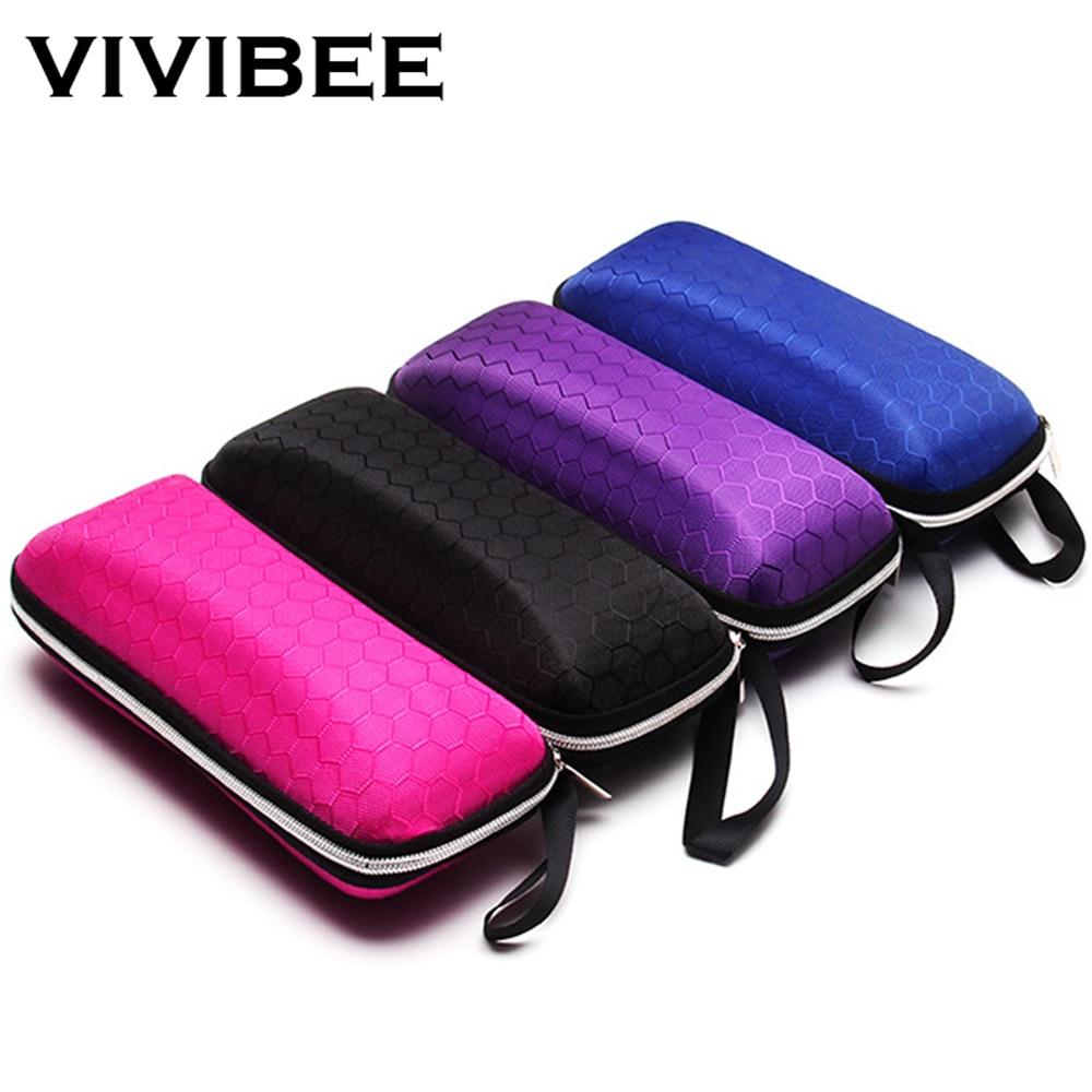 VIVIBEE Women Black EVA Fabric Sunglasses Case Zipper Waterproof Sun Glasses Bag Hard Men Eyeglasses Spectacle Box