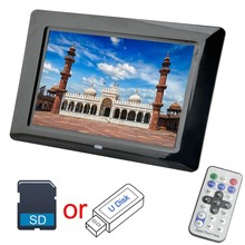 7 Inch Digital Photo Frame 8GB 16GB 32GB Option LED Backlight Electronic Album Picture Music Video Good Gift