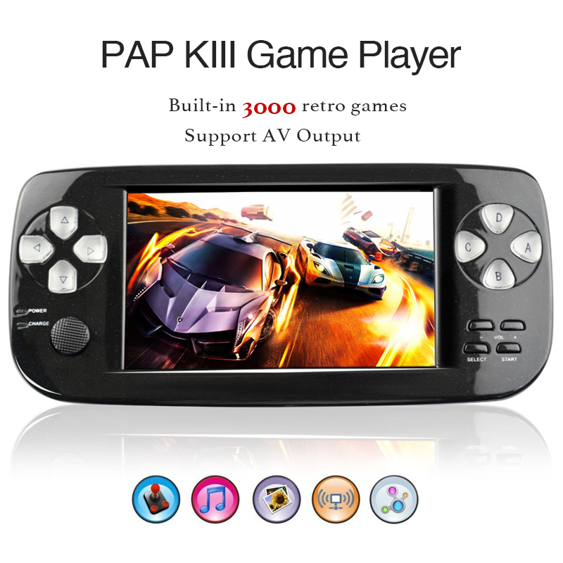 Players Game-Console 64-Bit Classic-Games Pap Kiii Retro Mini Handheld Portable Built-In
