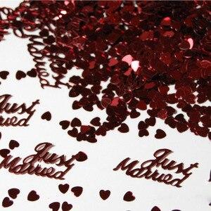 """Image 1 - Hot Selling 380Pcs Tafel Party Scatters Confetti Goud Zilver """"Just Married"""" Ontwerp Voor Diy Party & Wedding decoratie Benodigdheden"""