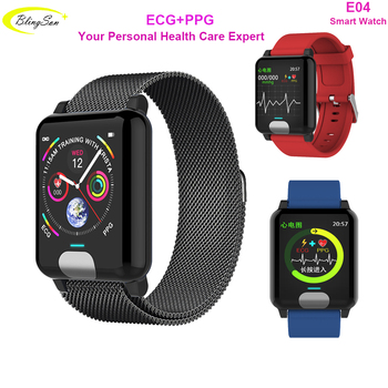 E04 водонепроницаемые умные часы ECG PPG кровяное давление монитор сердечного ритма фитнес-трекер Смарт-браслет для IOS Android