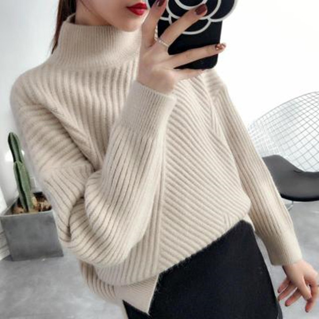 New 2018 Autumn and Winter Women Sweater Pullover Turtleneck Sweater Thicken Long Sleeve Pullover and Sweater Causal Female Tops