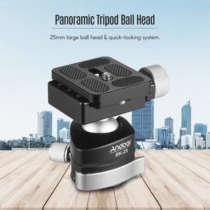 Image 5 - Andoer BK 25 Aluminium Alloy Tripod  BallHead Ball Head Mount Adapter with 1/4 inch or 3/8 inch screw MAX load 15kg/33lbs