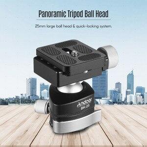 Image 5 - Andoer BK 25 adaptador de montaje de cabeza de bola de trípode de aleación de aluminio con tornillo de 1/4 pulgadas o 3/8 pulgadas carga máxima de 15kg/33lbs