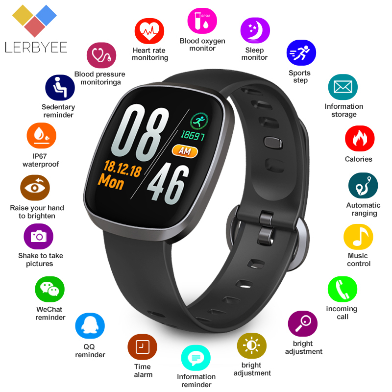 6c4dd9933f2b € 15.66 74% de DESCUENTO|Reloj inteligente Lerbyee Bluetooth GT103 Monitor  de sueño resistente al agua reloj rastreador de Fitness Pantalla ...