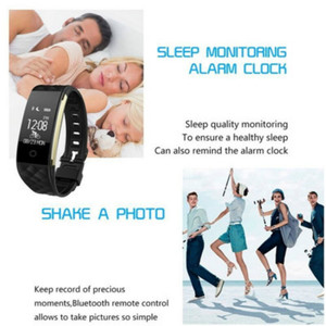 Image 4 - New Sport Smart Bracelet Heart Rate Monitor IP67 Fitness Bracelet Tracker Smart Wristband Bluetooth For Android IOS PK 115plus