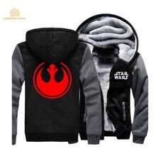 Star Wars Rebel Alliance Movie Hoodies Men 2019 Hot Sweatshirts Spring Warm Fleece Mens Jackets Plus Size Zipper Tracksuit CM01
