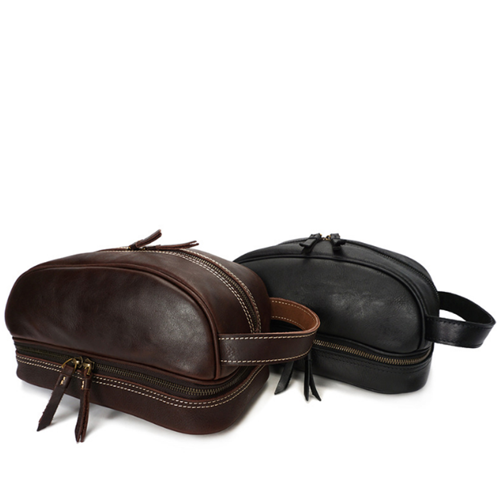Hand Made Multi-function Mens Genuine Leather Handbag Fashion European Style Dark Brown/Black Daily Use HandbagHand Made Multi-function Mens Genuine Leather Handbag Fashion European Style Dark Brown/Black Daily Use Handbag