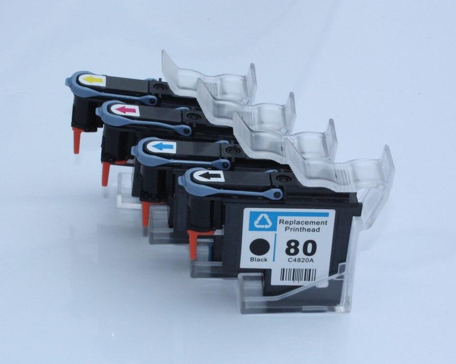 Cabezal de impresión HP 80 reacondicionado 4PK para HP Designjet 1050c 1050c Plus 1055cm