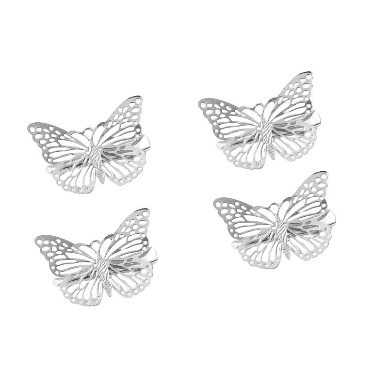 2 uds Clip de pelo elegante plateado mariposa accesorio de pelo para la Boda nupcial Clip belleza Nuevas botas DIMI 2020 para niñas, elegantes, con estampado Floral, informal, para niños, botas de goma para niñas, lindas botas de moda para bebés, botines Martin