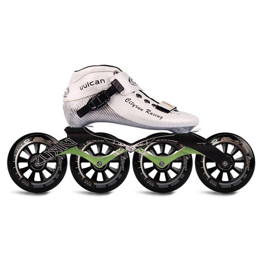 30-44 Cityrun uulcan vitesse patins à roues alignées 6 couches en Fiber de carbone patins de compétition professionnels 4 roues Patines de course