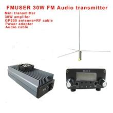 Fmuser FU-30E CZH-30E fm-радио мини передатчик и 30 Вт усилитель с GP200 1/2 волновой антенной с адаптером питания комплект
