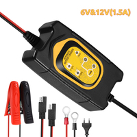WonVon 6V 12V 1500mA Full Automatic Car Battery Maintainer for Car Motorcycle lead acid batteries accu lader Trickle Charger