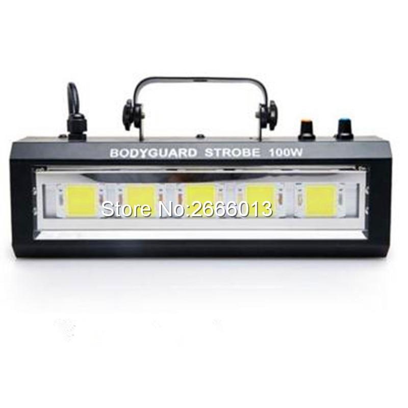 Niugul Auto Sound Control 100W LED RGB/White Strobe Light For DJ Disco Home Party Stage Show Stroboscope,100W LED Flash Light