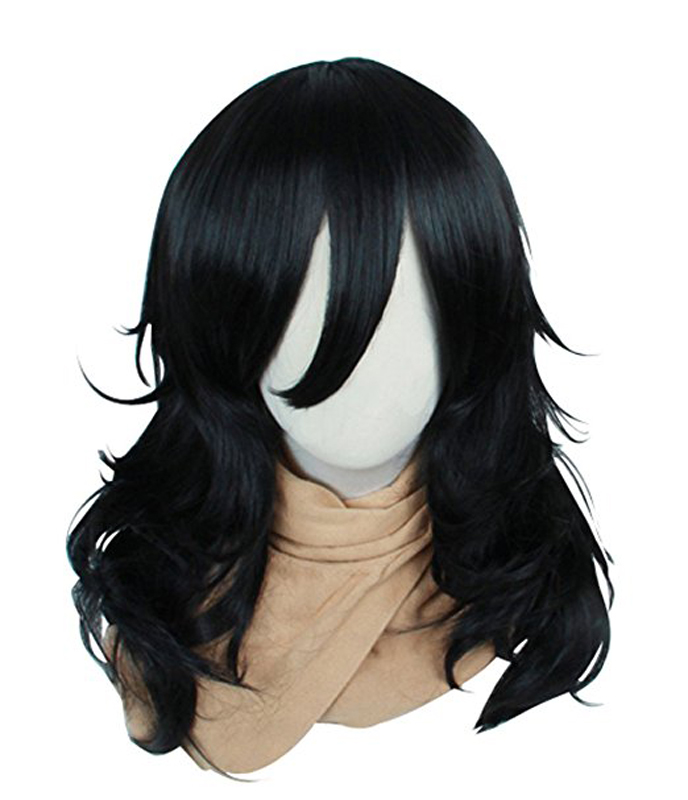 My Hero Academia Boku no Hiro Akademia Shouta Aizawa Wig Black Synthetic Curly Hair Cosplay Wig Heat Resistant Fiber Wigs