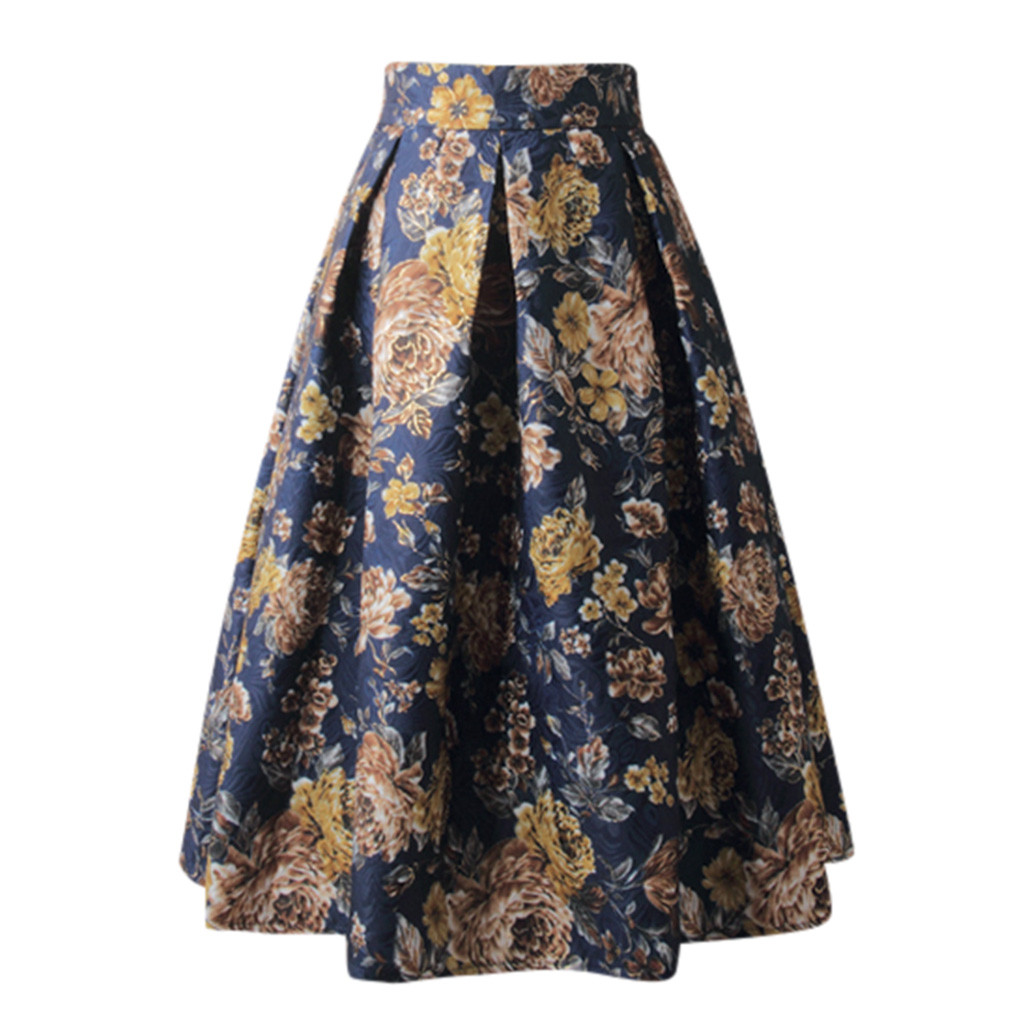 Women Boho Floral Printed Grey Side Zipper Tie Front Overlay Pants Ruffle Skirt Bow Long Skirt Holiday Beach Z326