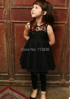 Girls Summer Lace Hollow Tutu Dresses Wholesale Baby Children Evening Party Clothing AA410DS 59