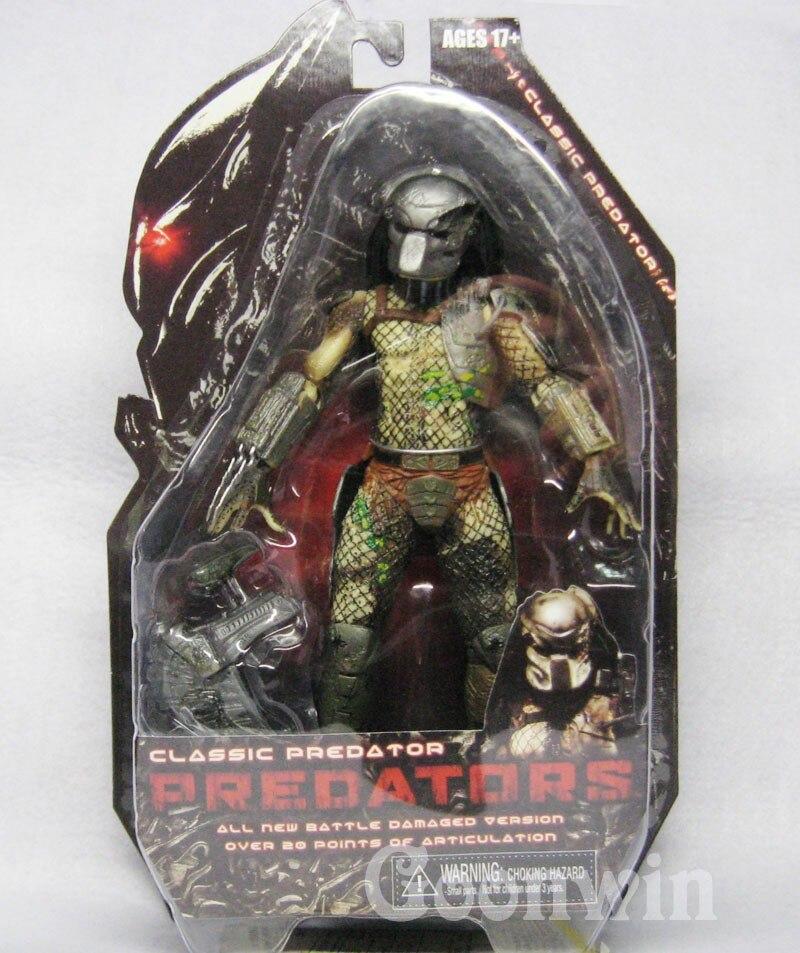 820cm NECA Movie Predator Series 2 Classic Predator PVC Action Figure Collection Toy Model TT003 neca predator 2 lost scout warrior predator pvc action figure collectible model toy 7 18cm