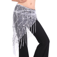 Belly dance sequins triangular arm towel