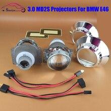 Para BMW Serie 3 E46 OEM MD2S ZKW HID Bi-xenon Lente del proyector Kit Faro Reemplazo Retroquick Q5-R 1998-2005 Hi/Low LHD RHD