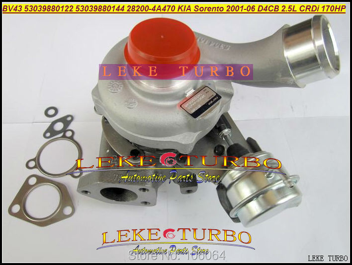 BV43 53039880122 53039700122 53039880144 53039700144 28200-4A470 282004A470 Turbo For KIA Sorento 2001-06 D4CB 2.5L CRDi 170HP