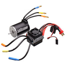 Racerstar 3650 Sensorless sin escobillas de Motor 60A ESC para 1/10 monster truck truggy coches(China)