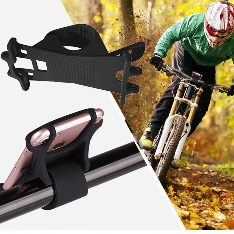 Bike Phone Holder Universal Silicon Smartphone Bike Mount Cell Phone Holder Fits for iPhone and other Smartphone and Every Bike in Phone Holders Stands from Cellphones Telecommunications