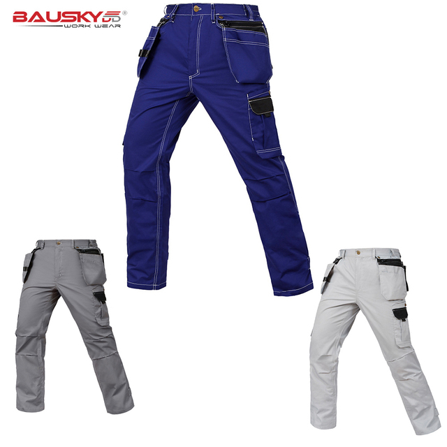 Working Pants Summer Thin Style Multi-Pockets Work Trousers Plus Size Wear-Resistance  Factory 72a962a9b770