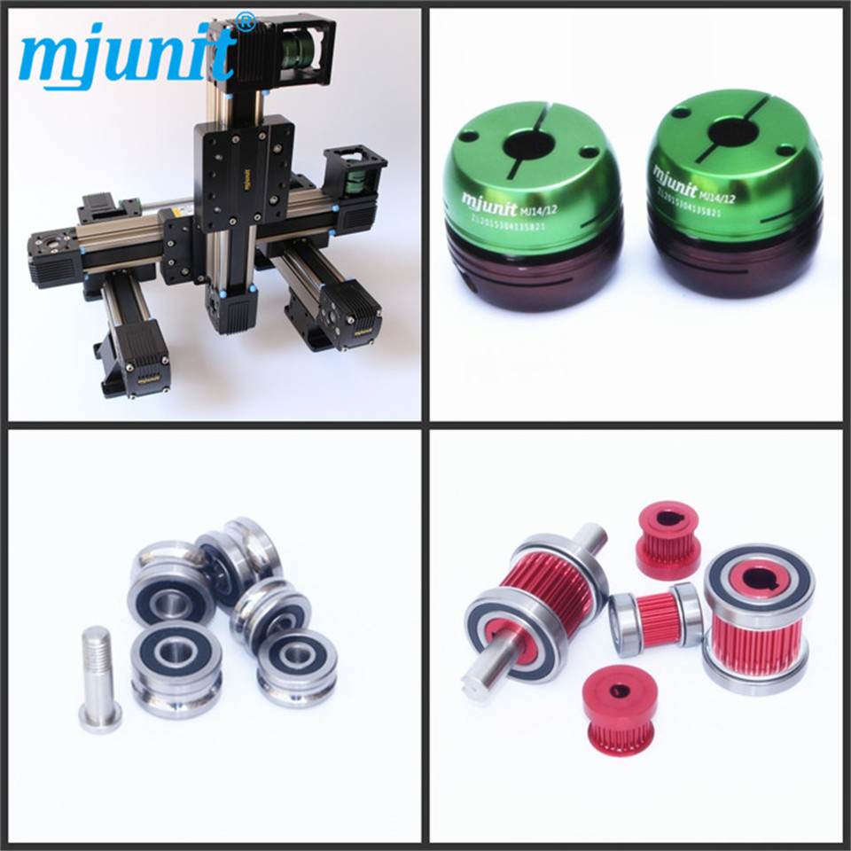 mjunit Belt Drive Linear Guide /Linear Rail linear axis with toothed belt drive belt drive linear rail reasonable price guideway 3d printer linear way