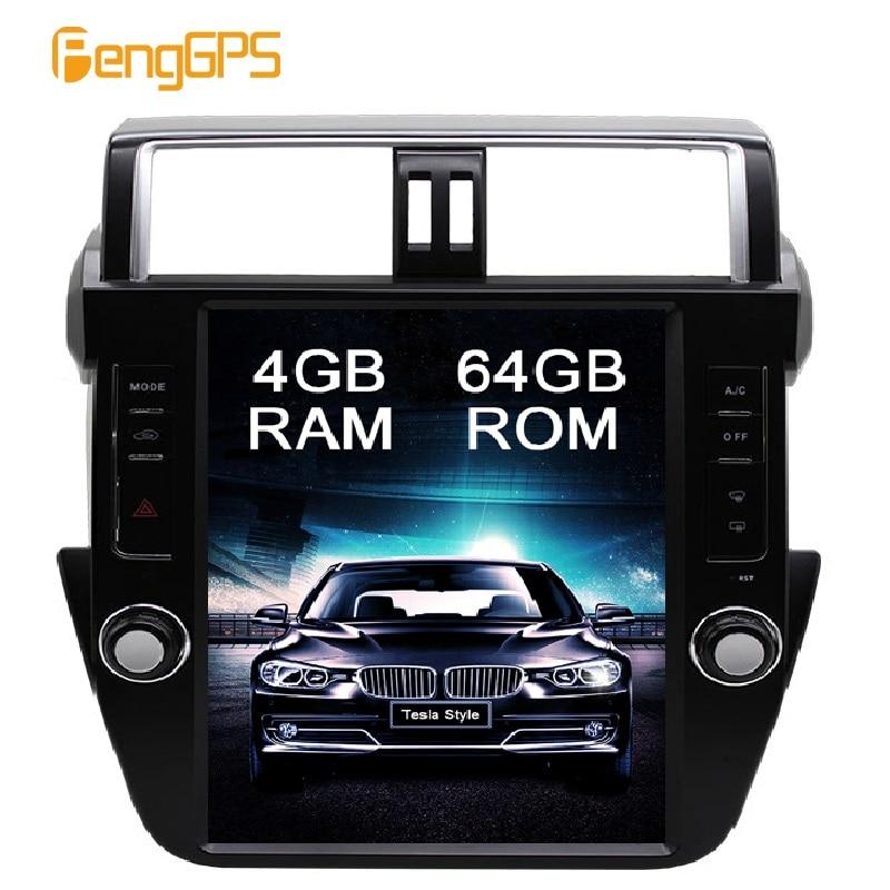 4G 64G IPS Android 8 1 Car GPS Navigation DVD Player for Toyota Land Cruiser Prado