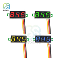 цена на DC 0V-100V 0.28 inch LED Digital Voltmeter Voltage Meter Auto Car Mobile Power Voltage Tester Detector Red Green Blue Yellow