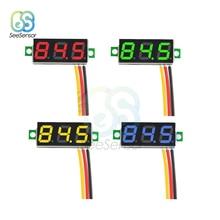 DC 0V-100V 0.28 inch LED Digital Voltmeter Voltage Meter Auto Car Mobile Power Voltage Tester Detector Red Green Blue Yellow